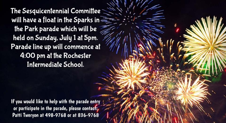 Sparks in the Park Parade Flyer