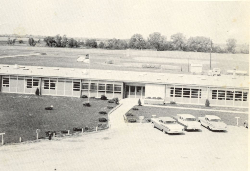 built in 1959 1962 aerial view of new hs