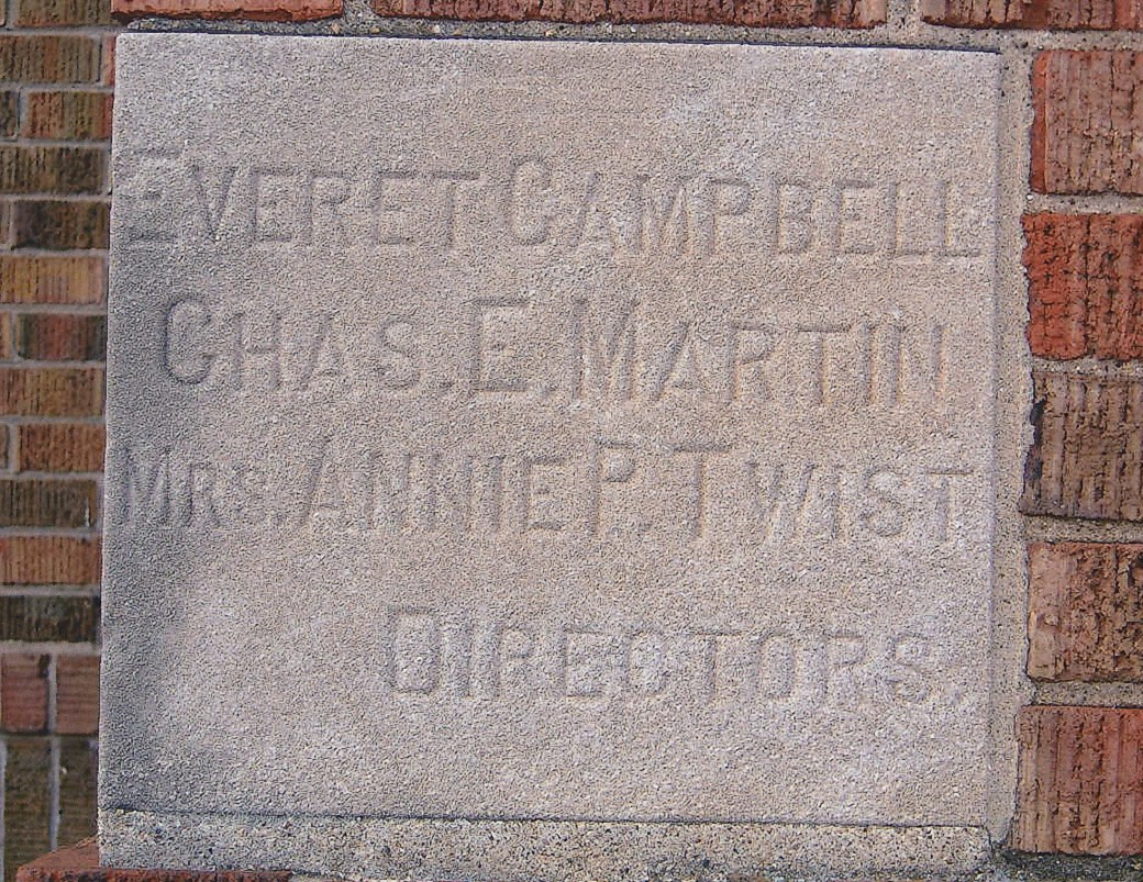 cornerstone from 1920 school (2)