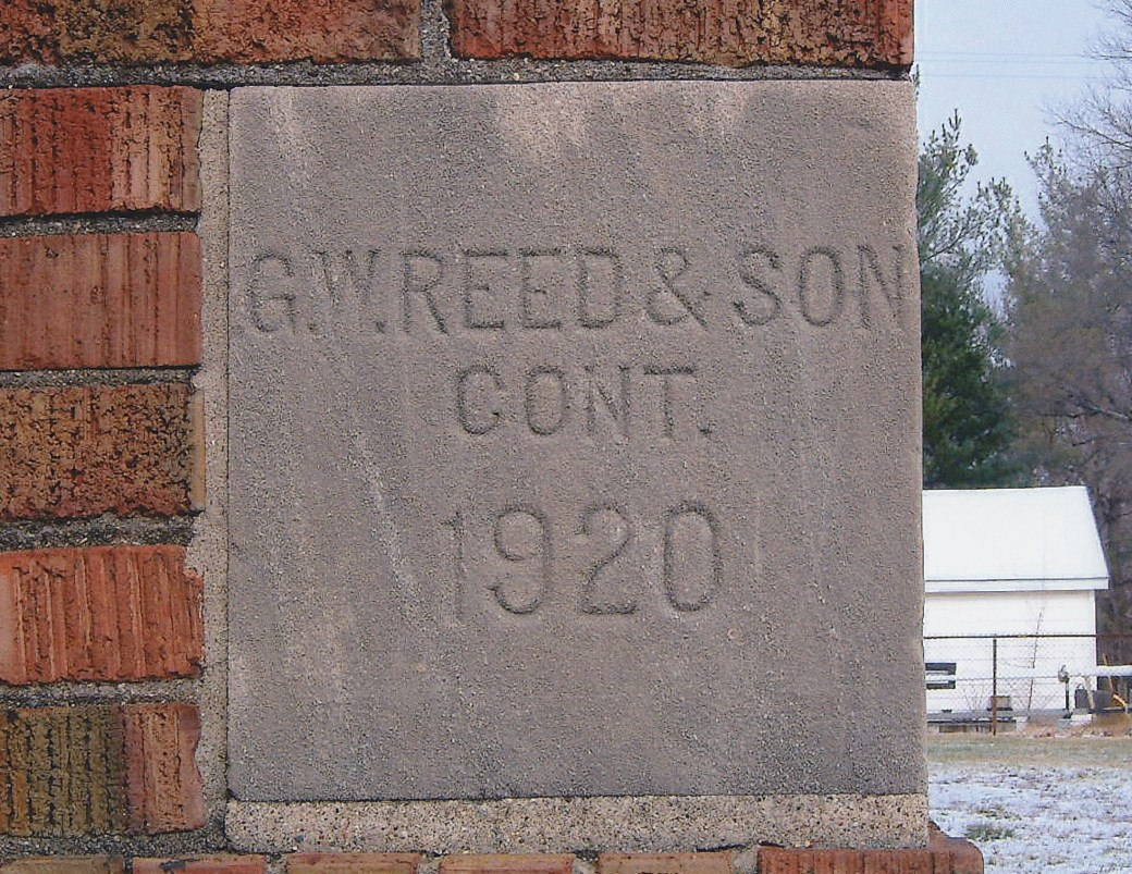 cornerstone from 1920 school