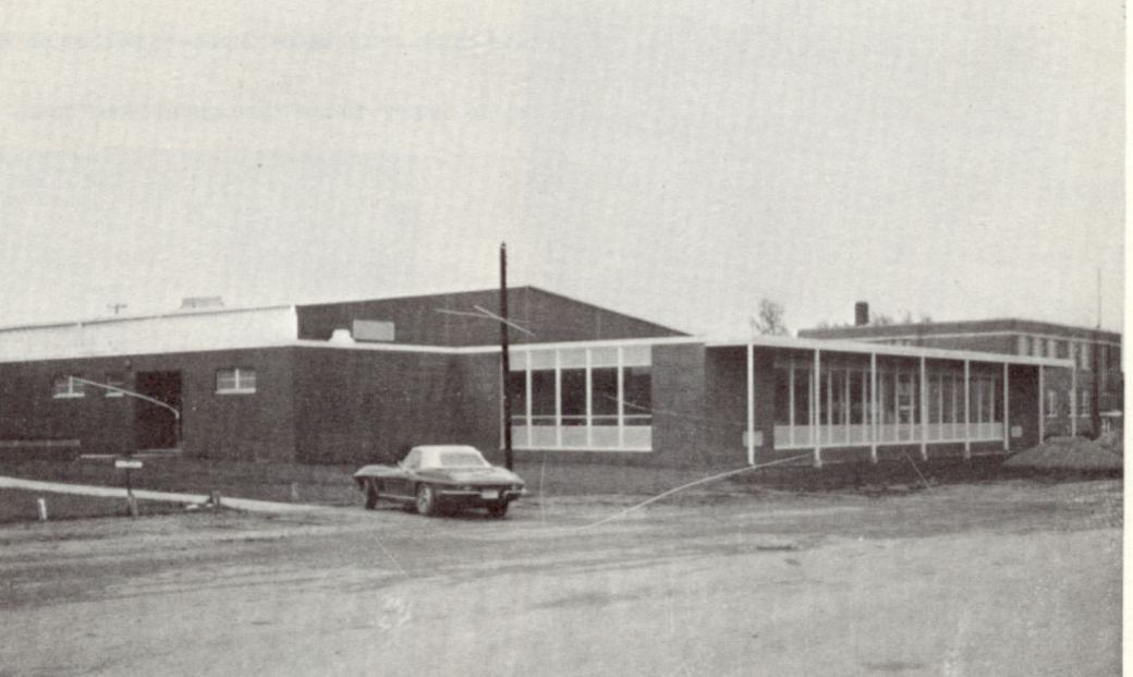 new cafeteria built in 1951, seen here may 1967