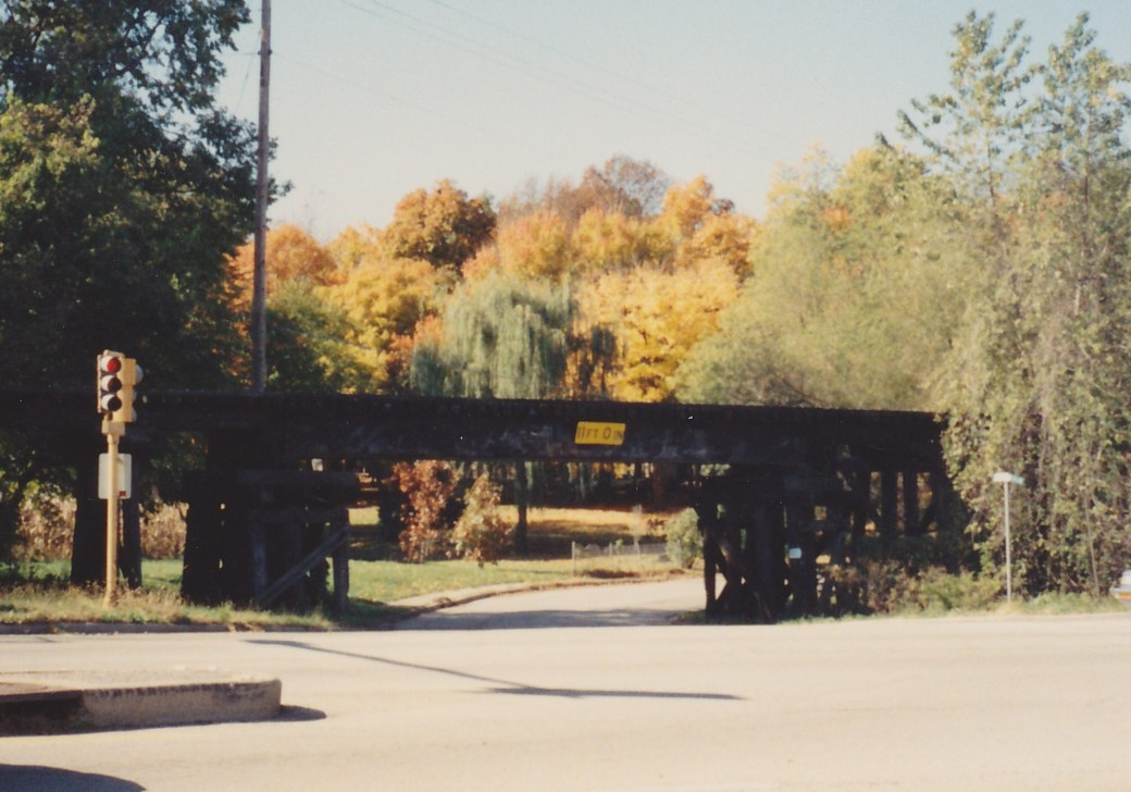 old railroad trestle - mid 1980s at west main & rt. 29