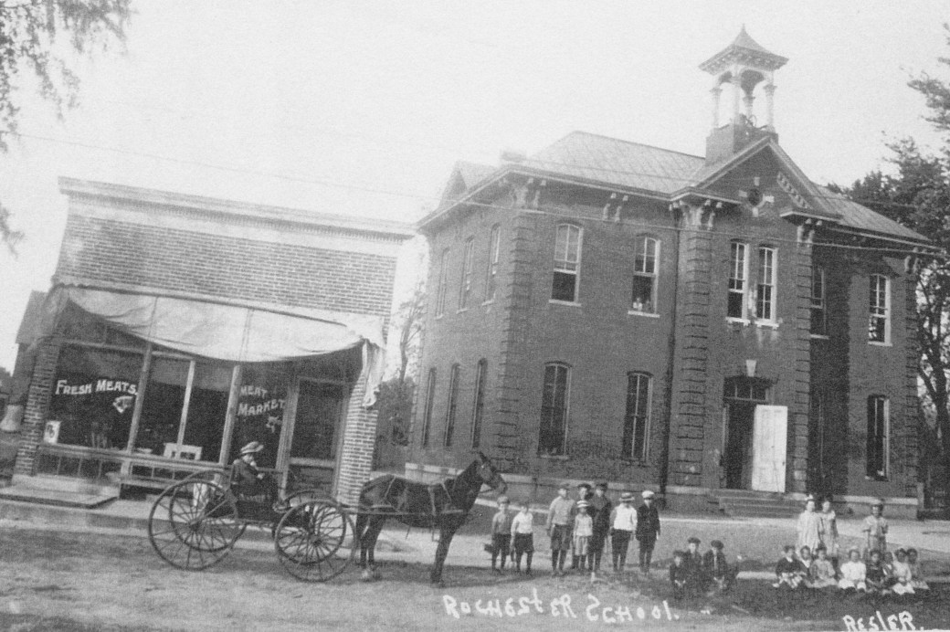 rochester school - 1881 on main st. became masonic lodge in 1920.