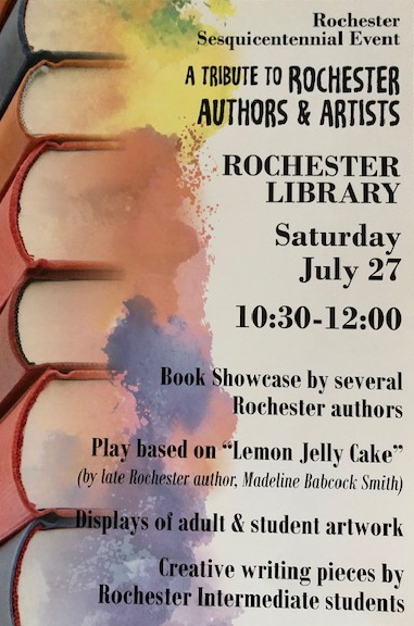 a tribute to rochester authors and artists flyer